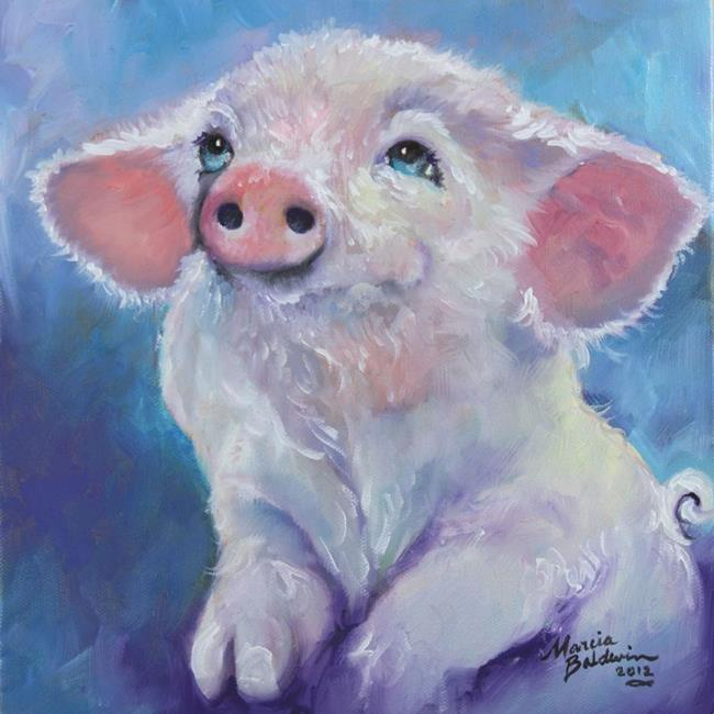 Feed Me Little Pink Piglet By Marcia Baldwin From Animals