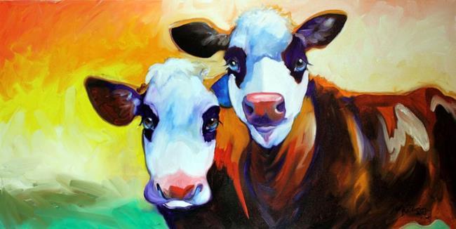 Art: FUN COWS DEAUX by Artist Marcia Baldwin
