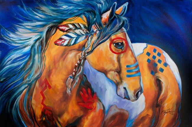 Art: BOLD & BRAVE Indian War Horse by Artist Marcia Baldwin