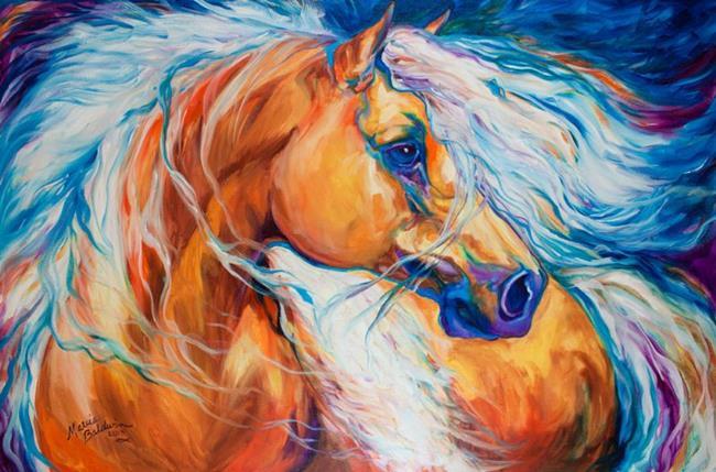 Art: FREE BREEZE PALOMINO WILD by Artist Marcia Baldwin