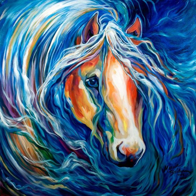 Art: STORMS CALM ~ EQUINE ABSTRACT by Artist Marcia Baldwin