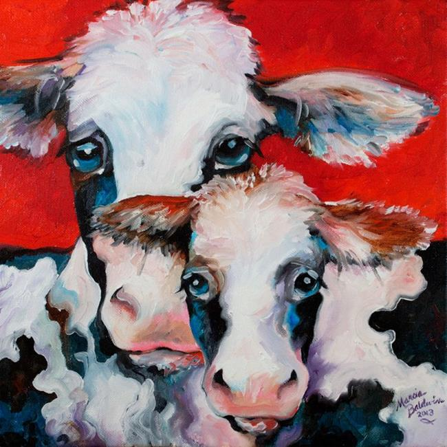 Art: FUN COWS 2 BLAH BLAH by Artist Marcia Baldwin