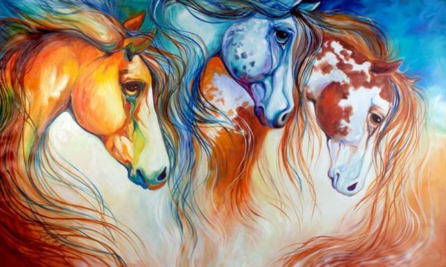 Art: SUN MOON STARS by Artist Marcia Baldwin