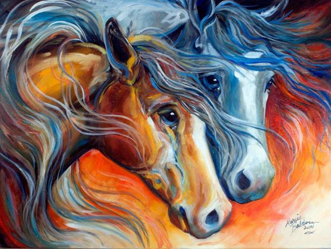 Art: MIDNIGHT & SUNRISE by Artist Marcia Baldwin