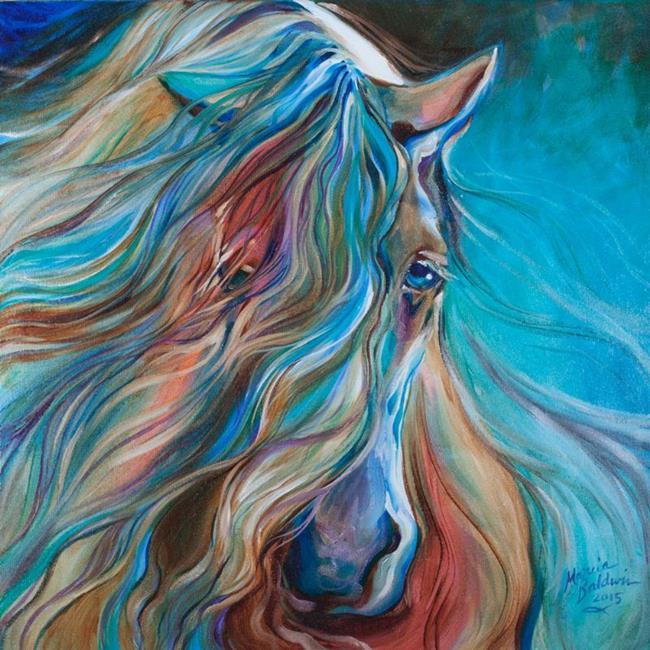Art: E-MESMERIZE-GYPSY-VANNER-orig-oil-Marcia-Baldwin-copyright-2015.jpg by Artist Marcia Baldwin