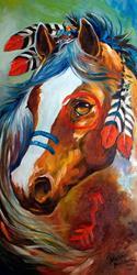 Art: INDIAN WAR HORSE ~ BLAZE by Artist Marcia Baldwin