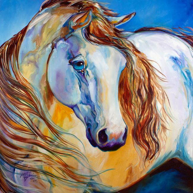 Art: THE NOBEL SPIRIT EQUINE by Artist Marcia Baldwin