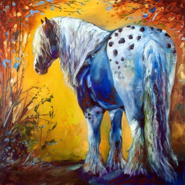 Art: GYPSY VANNER APPALOOSA by Artist Marcia Baldwin