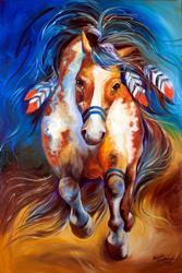 Art: FIRE the Indian War Horse by Artist Marcia Baldwin