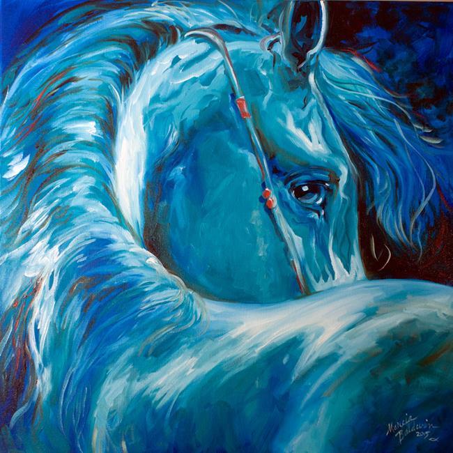 Art: BLUE ANGEL EQUINE by Artist Marcia Baldwin