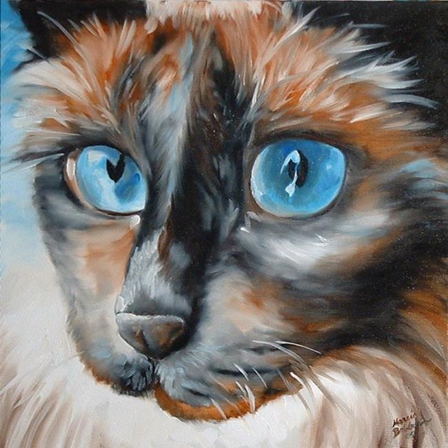 Art: SWEET KITTY BLUE  by Artist Marcia Baldwin