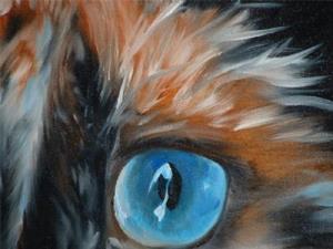 Detail Image for art SWEET KITTY BLUE