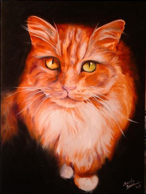 Art: SWEET KITTY TABATHA by Artist Marcia Baldwin