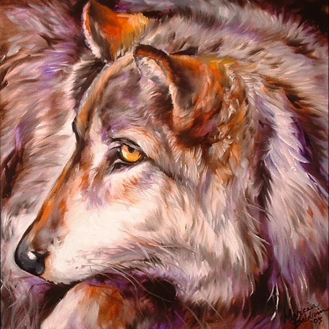 Art: WOLF by Artist Marcia Baldwin