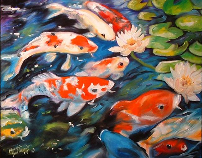 Koi by marcia baldwin from animals for Koi prints canvas