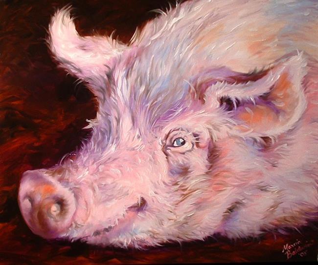 Art: SWEET PEA  by Artist Marcia Baldwin