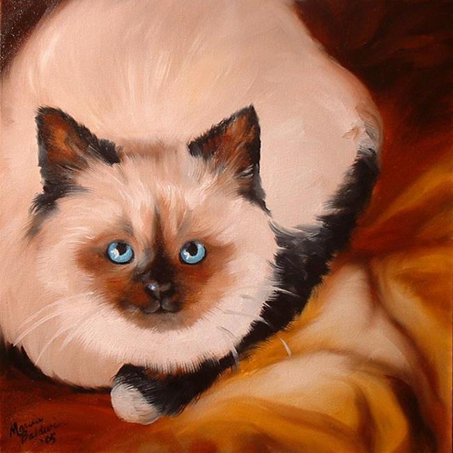 Art: SWEET KITTY PRISCILLA by Artist Marcia Baldwin