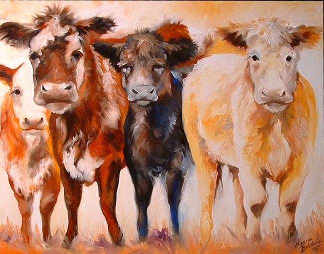 Art: FOUR AMIGOS by Artist Marcia Baldwin