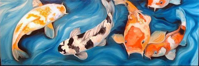 Art: KOI FIVE by Artist Marcia Baldwin