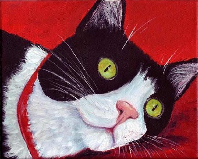 Art: Kitty Cat Bored by Artist Ulrike 'Ricky' Martin