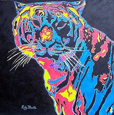 Art: Le Tigre - A different kind of clown by Artist Ulrike 'Ricky' Martin