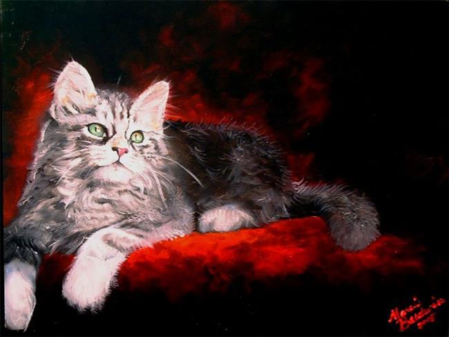 Art: Sweet Kitty Repose by Artist Marcia Baldwin