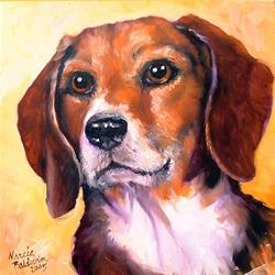 Art: Beagle Billy by Artist Marcia Baldwin