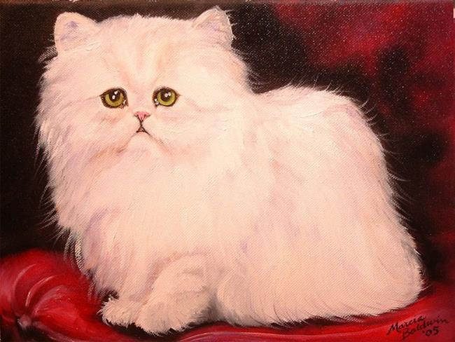 Art: Sweet Kitty Persian by Artist Marcia Baldwin