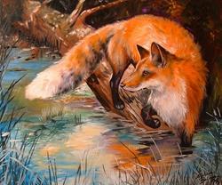 Art: RED FOX III by Artist Marcia Baldwin