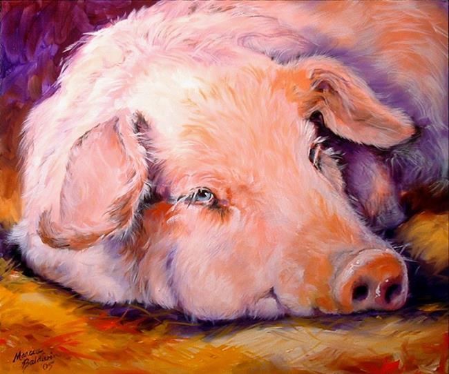Art: PINK PIG by Artist Marcia Baldwin