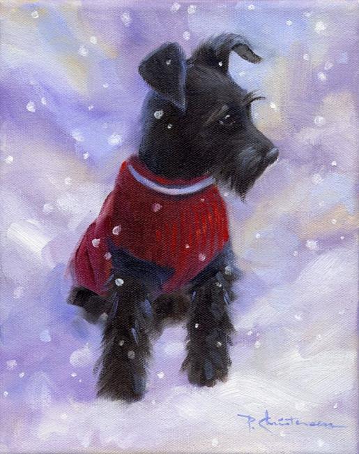 Art: Zeke's First Winter ~ Sold by Artist Patricia  Lee Christensen