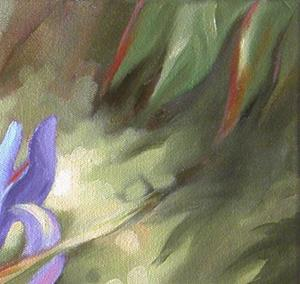Detail Image for art Iris and Kitty, Victorian Garden Series