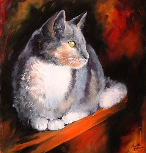 Art: Sweet Kitty Watching by Artist Marcia Baldwin