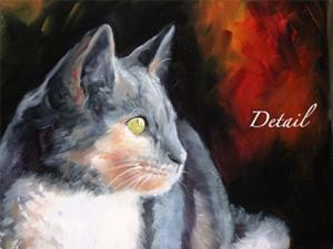 Detail Image for art Sweet Kitty Watching
