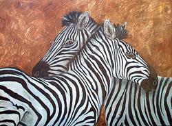 Art: Zebras ( sold ) by Artist Ulrike 'Ricky' Martin