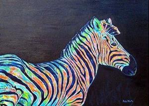Detail Image for art Zebras ( sold )