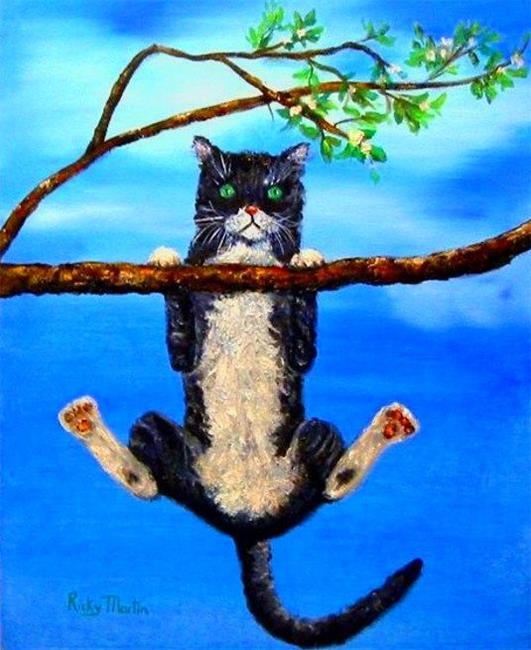 Art: Kitty in Trouble by Artist Ulrike 'Ricky' Martin
