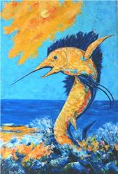 Art: Sailfish Abstract by Artist Ulrike 'Ricky' Martin