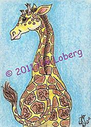 Art: 2012 Giraffe - Sold by Artist Kim Loberg