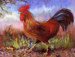 Art: Strutting Rooster ~ Chanteclair by Artist Patricia  Lee Christensen