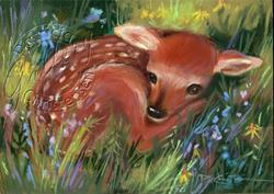 Art: New Spring Fawn ~ Sold by Artist Patricia  Lee Christensen