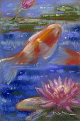 Art: Koi And Lilies ~ I  by Artist Patricia  Lee Christensen