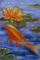 Art: Koi And Lilies ~ II  by Artist Patricia  Lee Christensen