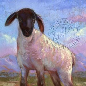 Detail Image for art Mountain Green Spring Lamb (Sold)