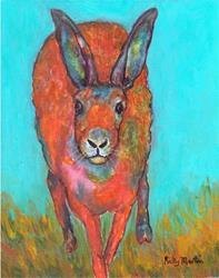 Art: Hare on the Run by Artist Ulrike 'Ricky' Martin