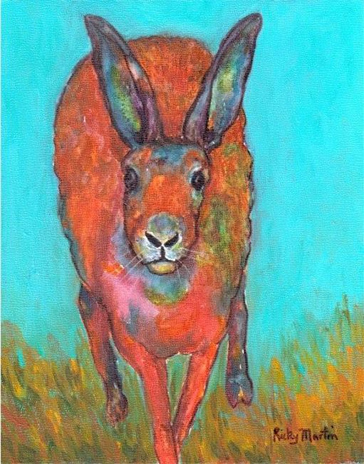Art: Hare on the Run by Artist Ulrike 'Ricky' Martin