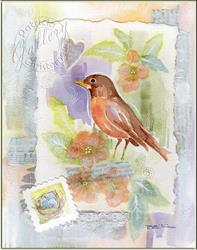 Art: Spring Robin by Artist Patricia  Lee Christensen