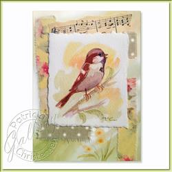 Art: Singing Sparrow by Artist Patricia  Lee Christensen