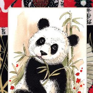 Detail Image for art Panda Munching Green Lunch