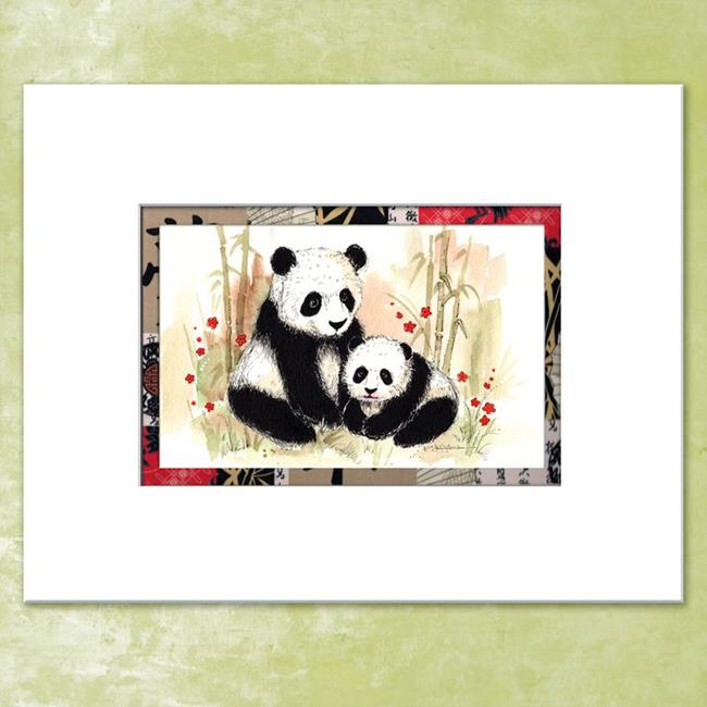 Art: Mama Panda & Baby by Artist Patricia  Lee Christensen